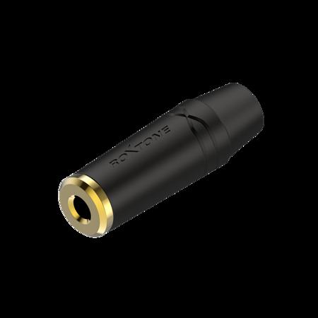3.5mm stereo Jack, Black electrophoretic paint shell Roxtone RMJ3FPP-65-BG